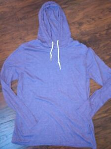 Gildan Athletic Workout Sweatshirt Thin Hoodie Purple Size Large