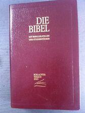 Schlachter 2000 Bibel Taschenausgabe weinrot Goldschnitt flexibel