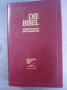 Schlachter Bibel 2000 - Fibroleder Weinrot - Flexibel