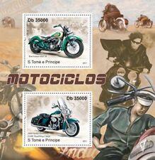 HARLEY DAVIDSON FLHRC Road King Classic & KIWI INDIAN Motorcycle Stamp Sheet