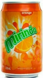 Mirinda Orange 330ml Pack of 24 Cans Soft Drink Can Fizzy Drinks