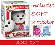 Funko Shop Pop! FLOCKED COCA-COLA POLAR BEAR +Protector CONFIRMED Order SOLD OUT