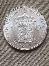 RARE NEDERLANDEN PIECE 1 GULDEN 1938 SILVER TTB/SUP