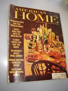 Vintage AMERICAN HOME Magazine March, 1966 Home Fashions from the PAST!