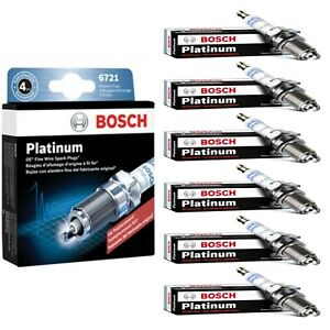6 pcs Bosch Platinum Spark Plugs For 2009-2019 FORD FLEX V6-3.5L