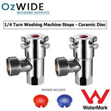 Austworld 1/4 Turn Washing Machine Stops Pair Ceramic Disc Laundry Watermark Tap