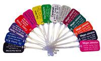Set of 5 Custom Plastic Engraved LUGGAGE ID tags FREE SHIPPING