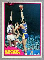 Kareem Abdul-Jabbar HOF MVP Lakers 1981 Topps Super Action NBA Basketball #106