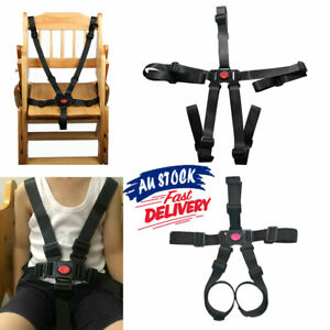 5 Point Car Belt Buggy Stroller Harness Safe Strap Children Pram Baby High Chair
