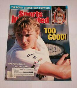 1989 Steffi Graf Sports Illustrated Magazine Tennis Grand Slam Too Good!