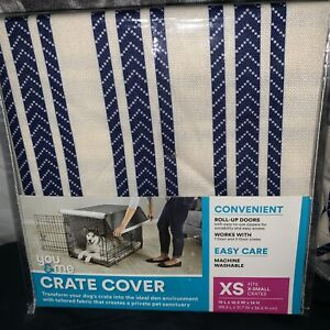 YOU AND ME CRATE COVER BRAND NEW! Sz Extra Small White With Navy Stripes Or Gray
