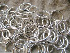 50 Biegeringe 10mm, Ösen, silberfarben hell, Schmuck - Perlen basteln, Verbinder