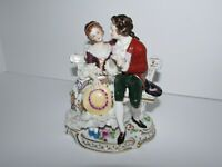 Vintage/Antique German Volkstedt Porcelain Lace Figurine Couple 790