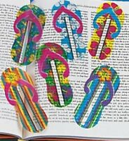 Flip Flop Bookmarks - Book Reading School Party Bag Fillers Pack Sizes 6 - 48
