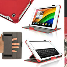"""PU Leather Skin Case Cover for Acer Iconia A1-830 7.9"""" Folio Stand + Hand Strap"""