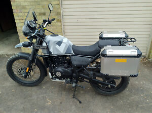 Royal Enfield Himalayan, panniers, aux lights & heated grips. Low mileage.