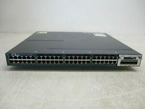 Cisco WS-C3560X-48P-S • 48-Port PoE+ Gigabit Switch1 YEA 1x C3KX-PWR-715WAC