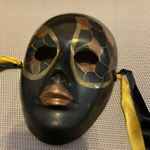 Mardi Gras Solid Brass Face Mask Made In India