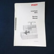Vintage Pfaff Coverlock 4872 Service Manual 68 Pages Original