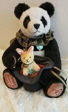 "Hermann Spielwaren 14th Sonneberg Museums 17"" Panda Bear #45 of 250 with growler"