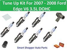 Tune Up Kit For 2007-2008 Ford Edge V6 PCV Valve Spark Plug Air Oil Cabin Filter