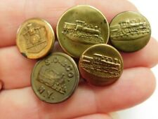 Antique collectible work clothes buttons~Railroad buttons
