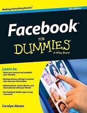 NEW Facebook For Dummies by Carolyn Abram