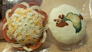 Nice Pair of Miniature Decorative PILLOWS for Doll House, goose, hand crocheted