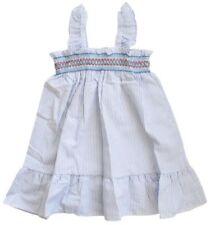 Vestidos de niña de 2 a 16 años de color principal azul de poliéster sin mangas