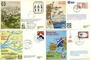 FOUR Royal Air Forces Escaping Society Covers, Italy Sweden Belgium Netherlands