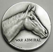 WAR ADMIRAL TRIPLE CROWN WINNER KENTUCKY DERBY MACO 1.2 TROY OZ .999 SILVER COIN