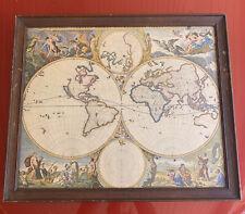 1800's Copy Orbis Terrarum Nova et Accuratissima Tabula Amsterdam 1658 Visscher