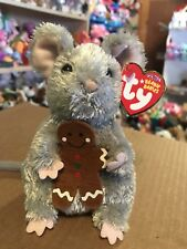 Ty Stirring -Grey Holiday Mouse Beanie Baby! *Retired* Rare & Vhtf!