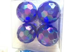 Purple Transparent Christmas Shatter Resistant 3 Inch Ornaments Decorations