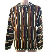 Vintage Bergati Sweater Mens L Coogi Style Biggie Smalls Cosby Hip Hop