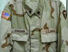US ARMY VINTAGE BDU SHIRT DESERT CAMO DCU US FLAG PATCH 36TH INFANTRY SZ LARGE