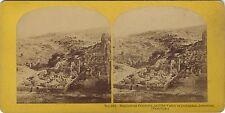 Cimetière musulman Jerusalem Palestine Photo Stereo Vintage Albumine ca 1865