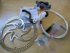 New Formula RX Front Hydraulic Disc Brake Kit White Lever Assembled Bled w Rotor