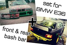 BASH BAR CRASH BAR BMW E36 FRONT & REAR v2 MMG MOTORSPORT