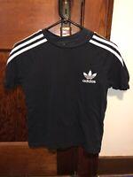Adidas Black And White Shirt Boys Size 8-10