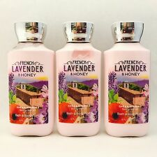 3 Bath & BODY WORKS lavande Française & Miel Lotion corporelle 8 fl.oz 236 ml