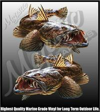 FLATHEAD - DECALS - 315mm X 205mm MIRRORED PAIR - BOAT DECALS
