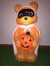 "Vintage Empire 23"" Halloween Lighted Blow Mold Bandit Bear Yard Decoration #2"