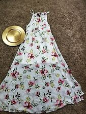 nwt women's Torrid white floral high neck chiffon maxi dress size 14/16