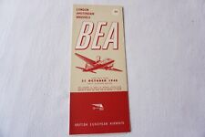 More details for oct 1948 bea london amsterdam brussels airline timetable schedule  vgc