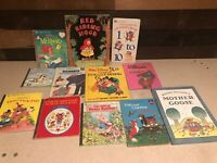 Childens Book Lot Golden Books, Disney Mother Goose, Riding Hood Etc