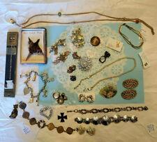 Jewelry LOT Antique Vintage Modern Mix Estate Flea Market Pin Necklace Bracelet
