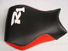 YAMAHA 98-99 YZF R1 FRONT & REAR  BLACK CARBON FIBER/RED CUSTOM SEAT COVERS