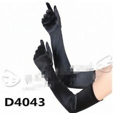 New Women Lady Cosplay Gothic Opera Bridal Fancy Wedding Long Elbow Black Gloves