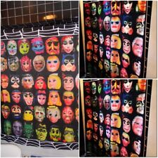 Original Halloween Costume Masks Shower Curtain  Horror  Rubies Collegeville